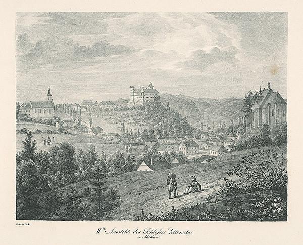 Adolf Friedrich Kunike – Pohľad na zámok Letovice na Morave