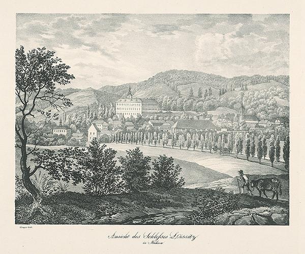 Jan Greger – Pohľad na zámok Lysice na Morave