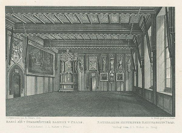 Josef Skála - Radná sieň v Staromestskej radnici v Prahe