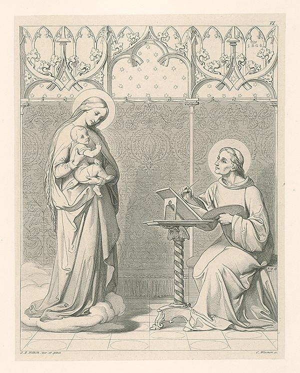 Konrád Wiesner, Johan Anton Hellich – Sv.Lukáš maľuje Pannu Máriu