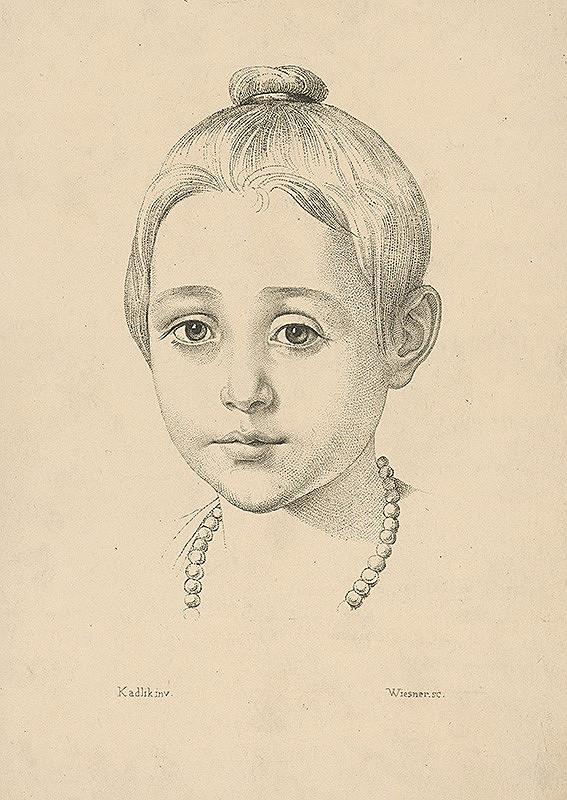 Konrád Wiesner, Kadlík - Hlava dievčatka