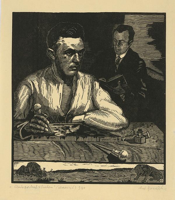 Anton Djuračka – Autoportrét s bratom