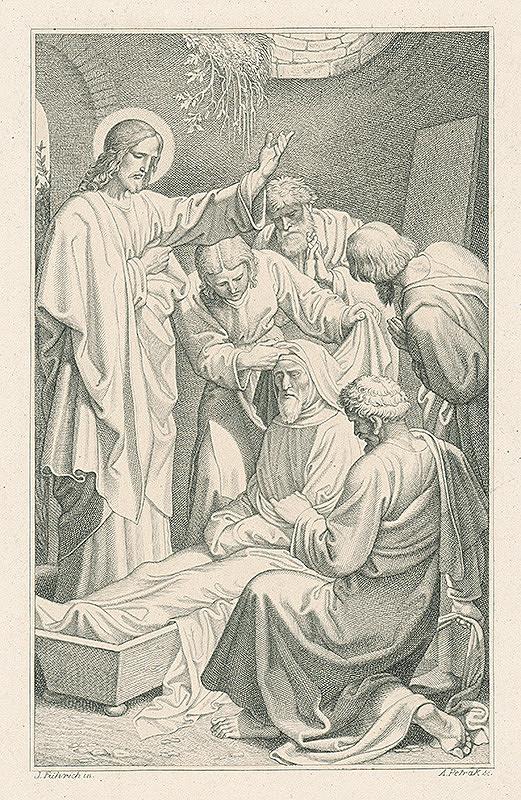 Alois Petrák, Joseph von Führich - Kristus uzdravuje nemocných