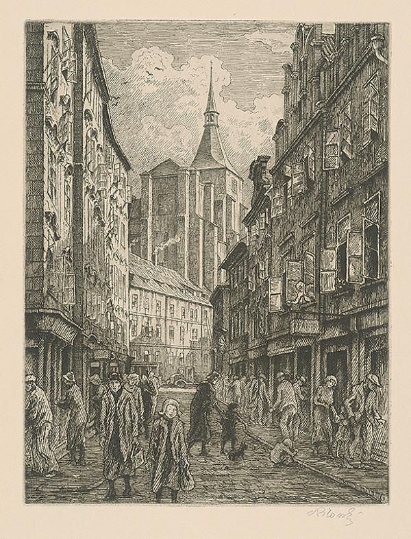Vladimír Silovský – Husová ulica v Prahe