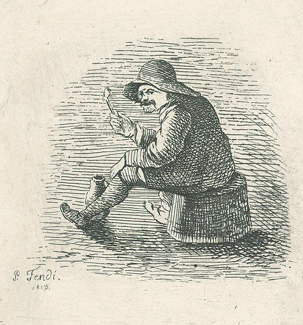 Peter Fendi - Muž s fajkou