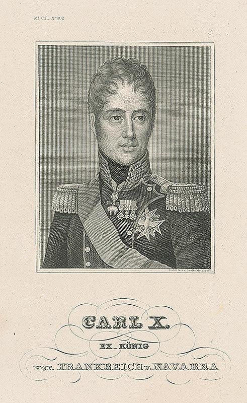 Gustav Metzeroth – Podobizeň francúzskeho kráľa Karola X.