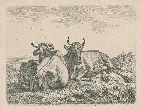 Johann Adam Klein – Ležiace kravy