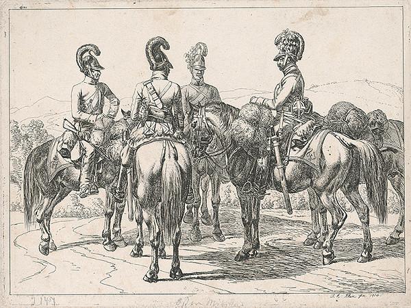 Johann Adam Klein – Vojaci na koňoch