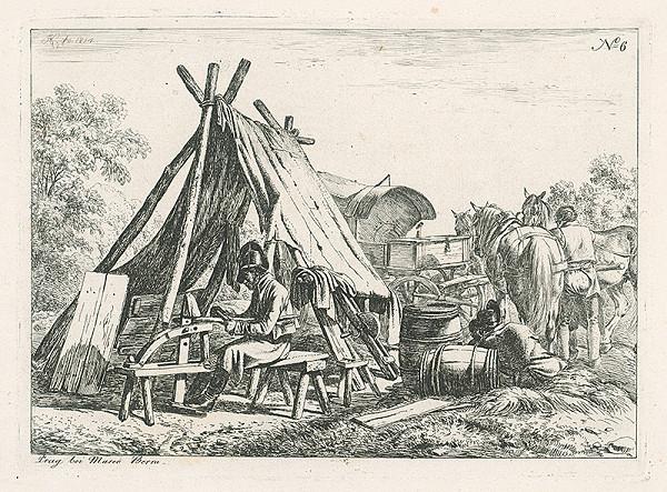 Johann Adam Klein – Vojenský tábor