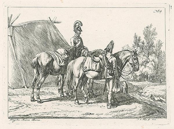 Johann Adam Klein – Vojenská scéna