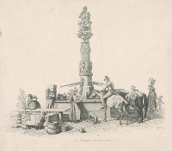 Johann Adam Klein – Scéna pri studni v Berne