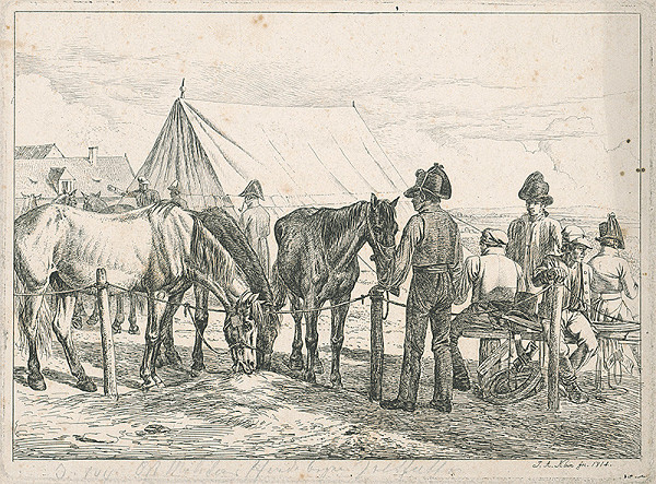 Johann Adam Klein – Scéna z vojenského tábora