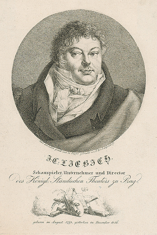 Ferdinand Karl Theodor Lütgendorff – Podobizeň J.Liebicha,riaditeľa pražského divadla