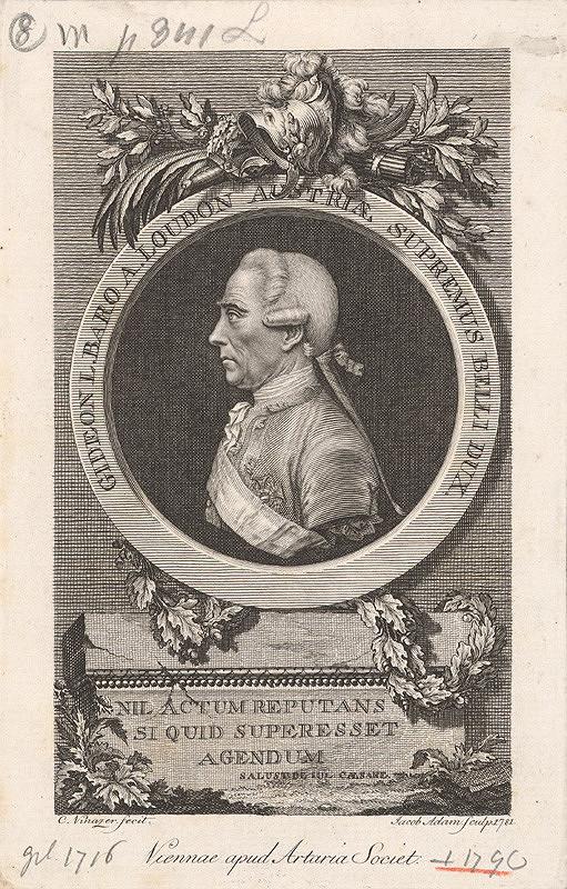 Jacob Adam, C. Vinazer – Podobizeň generála barona Loudona