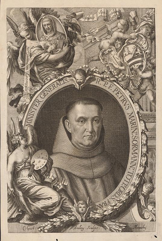 Karl Gustav von Amling, C. Gust – Podobizeň generálneho predstaveného františkánov Petra Sormanna