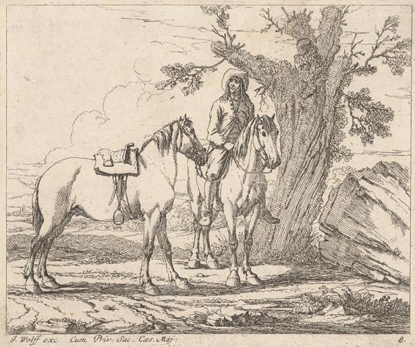 Georg Philipp Rugendas st., Jeremias Wolff - Muž s koňmi