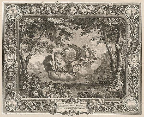 Charles le Brun, Sebastien Le Clerc st. – Ľudovít XIV., bojovník proti barbarom