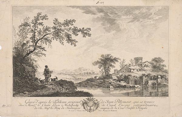 Ferdinand Laderer, Pillement - Krajina (Poriečna krajina s figurálnou štafážou /pastierka kôz/)