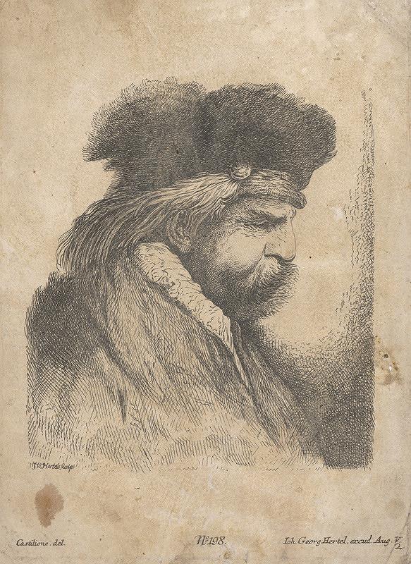 Johann Georg Hertel, Castilione – Portrét muža podľa Rembrandta