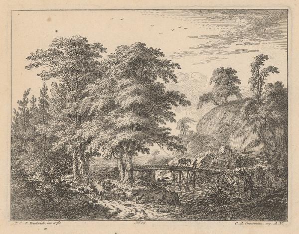 Johann Christian Friederich – Krajina s mostíkom