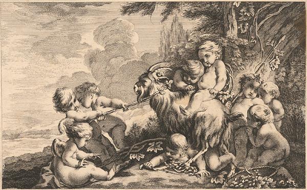 Johann Gottfried Böck – Putti s capom