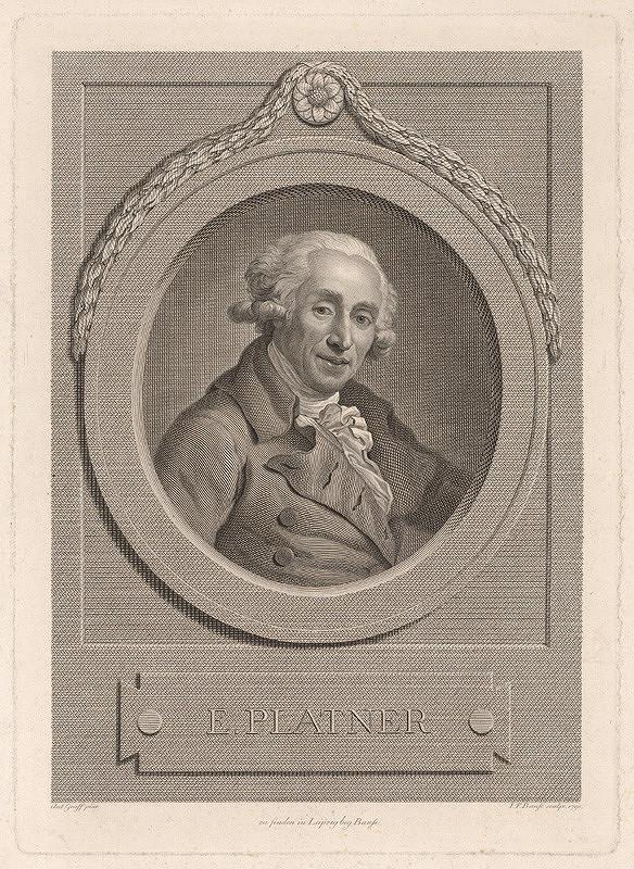 Johann Friedrich Bause, Anton Graff – Portrét E. Platnera