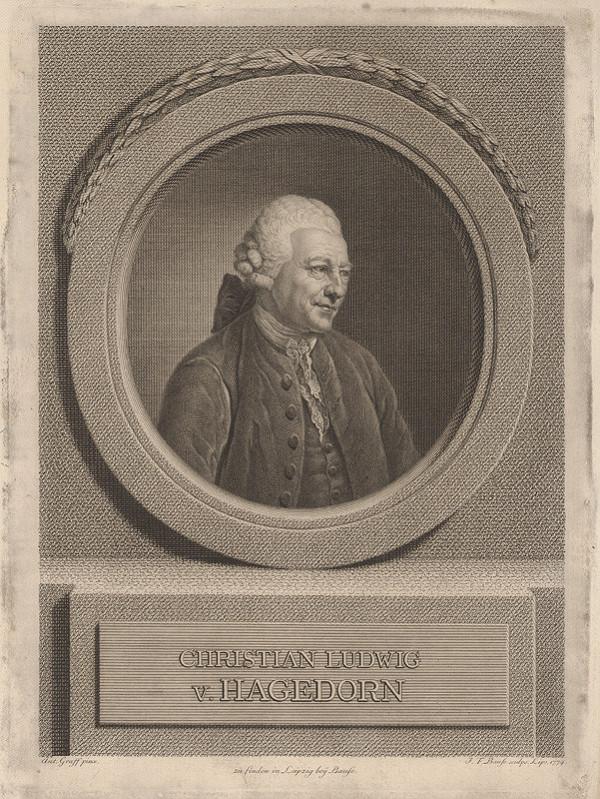 Johann Friedrich Bause, Anton Graff – Portrét Christiana Ludviga von Hagedorna