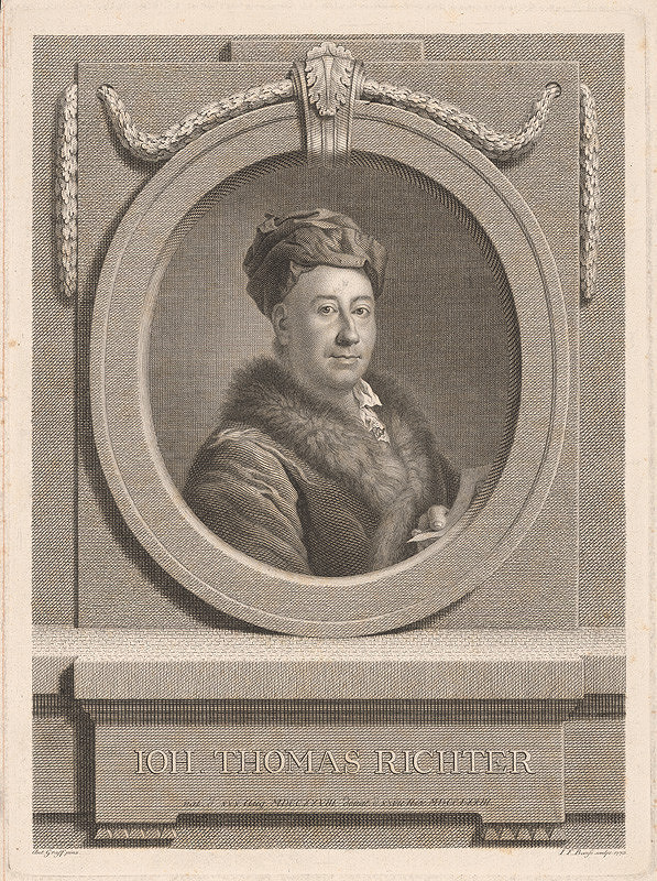 Johann Friedrich Bause, Anton Graff – Portrét Johanna Thomasa Richtera