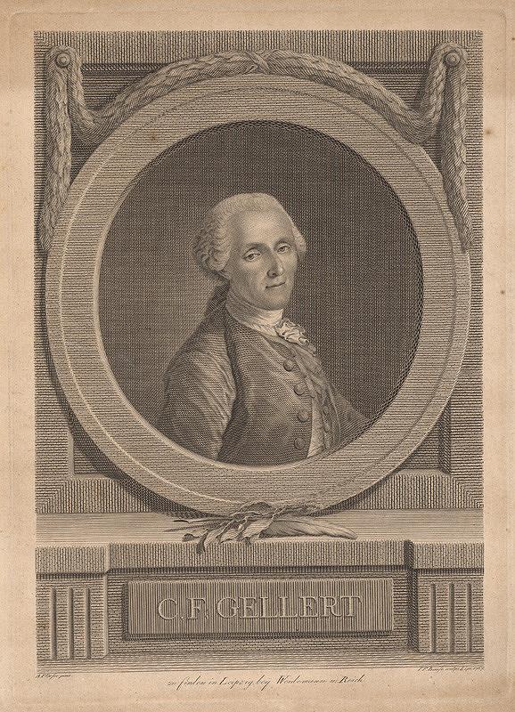Johann Friedrich Bause, Adam Friedrich Oeser – Portrét pána Gellerta