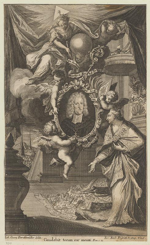 Jacob Andreas Fridrich, Johann Georg Berckhmüller - Podobizeň Alexandra Zigmunda augsburgského biskupa