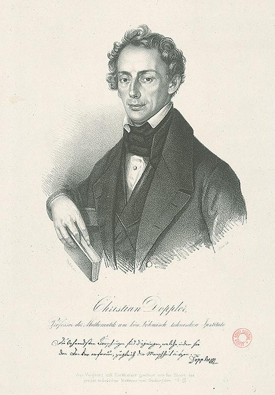 František Šír, Antonín Machek - Podobizeň Christiana Dopplera -prof.matematiky na českom techn.inštitúte