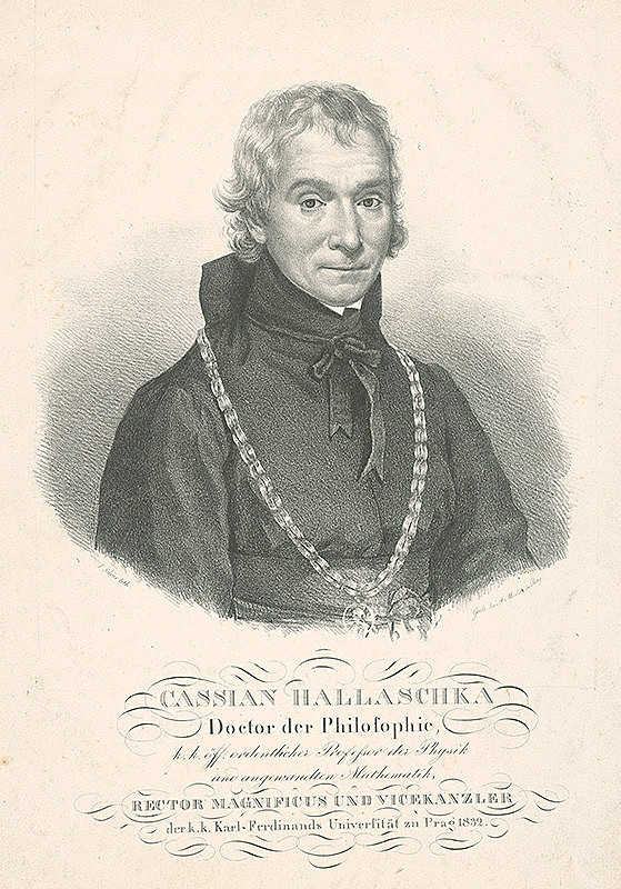 František Šír - Podobizeň Dr.Cassiana Halašku -rektor KU v Prahe