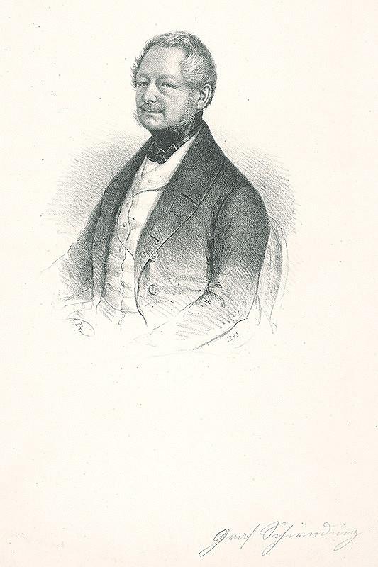 František Šír - Podobizeň grófa von Schirnding