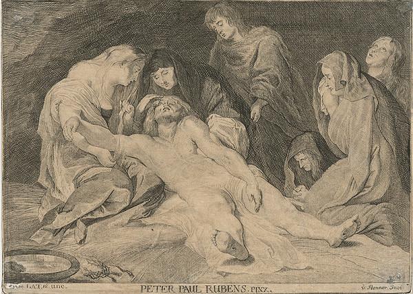 Anton Jozef Prenner, Peter Paul Rubens - Oplakávanie Krista
