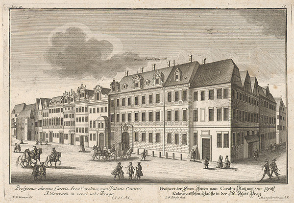 Johann Georg Ringle, Friedrich Bernhard Werner – Kolovratský palác v Prahe