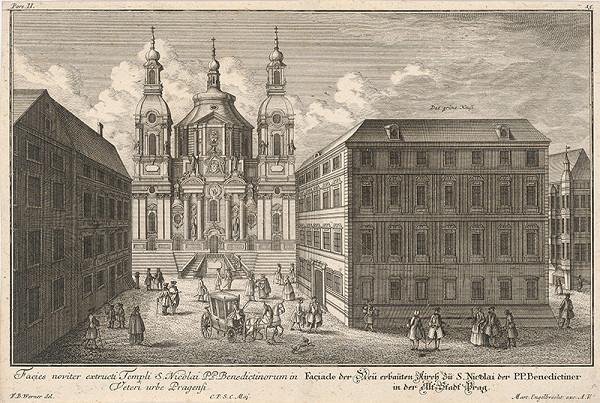 Johann Georg Ringle, Friedrich Bernhard Werner, Neznámy grafik – Chrám sv. Mikuláša v Starom Meste v Prahe