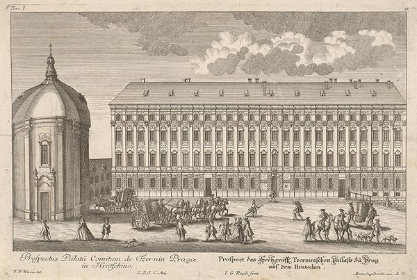 Johann Georg Ringle, Friedrich Bernhard Werner – Černínsky palác v Prahe
