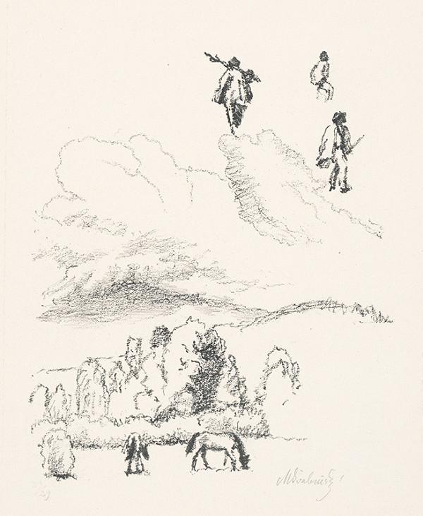 Max Švabinský – Pasúce na koníky