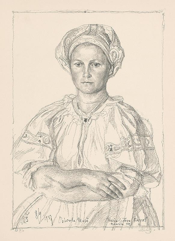 Max Švabinský – Slovenská žena