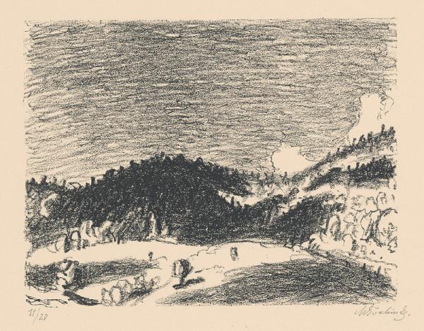 Max Švabinský - Hlboké tiene v horách