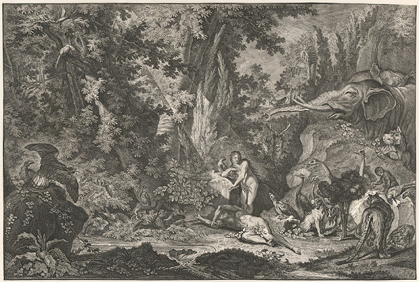 Johann Elias Ridinger – Stvorenie Evy