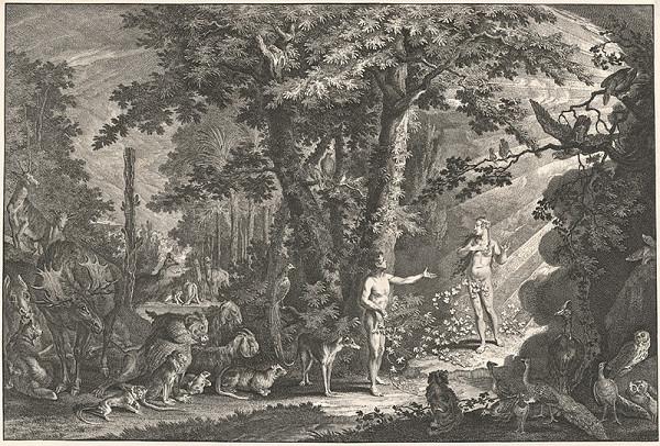 Johann Elias Ridinger - Adam a Eva