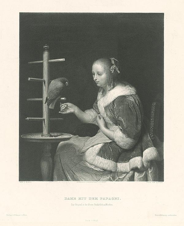 Johannes Burger, Frans van Mieris – Dáma s papagájom