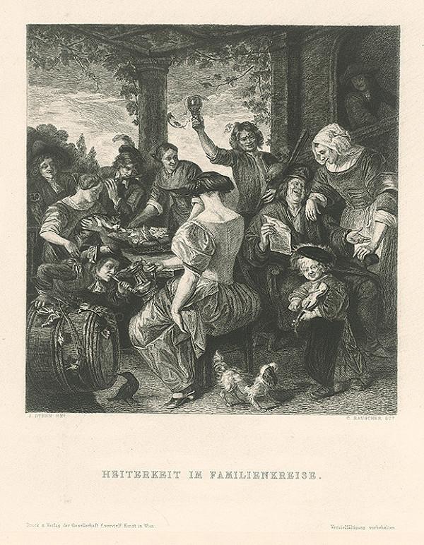 Carl Rauscher, Jan Steen - Veselosť v rodinnom kruhu