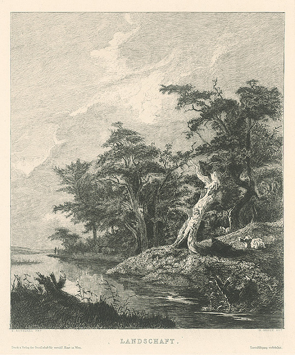 Gustave Greux, Salomon van Ruysdael - Krajina