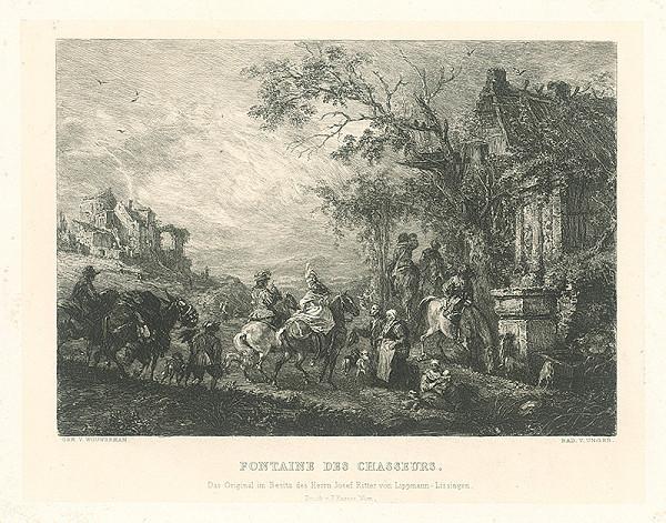 William Unger, Pieter Wouwerman – Fontána pri Chasseurs