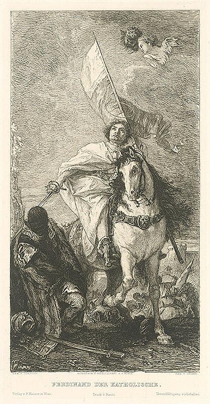 William Unger, Giovanni Batista Tiepolo - Jazdecký portrét Ferdinanda Katolíckeho