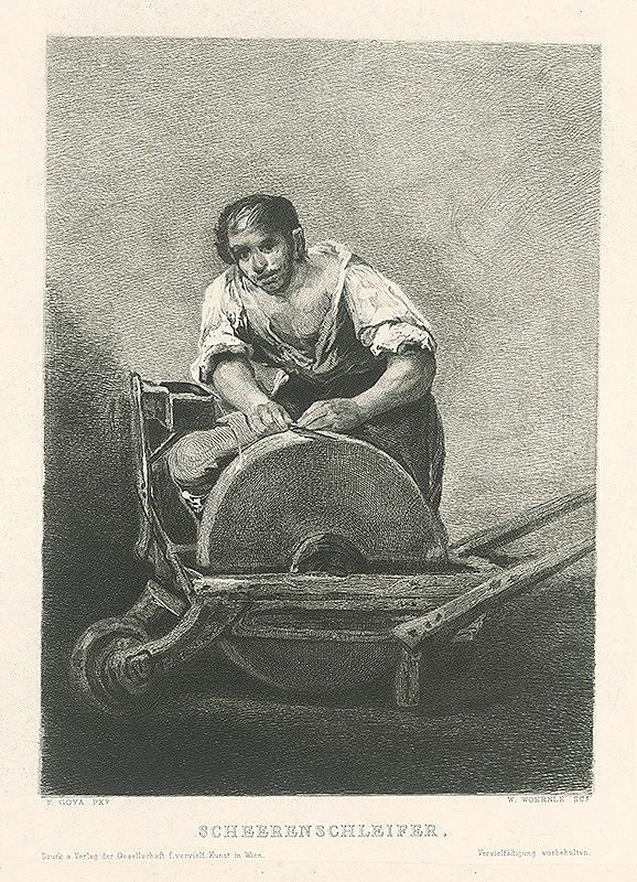 Wilhelm Woernle, Francisco Goya – Brúsič nožníc