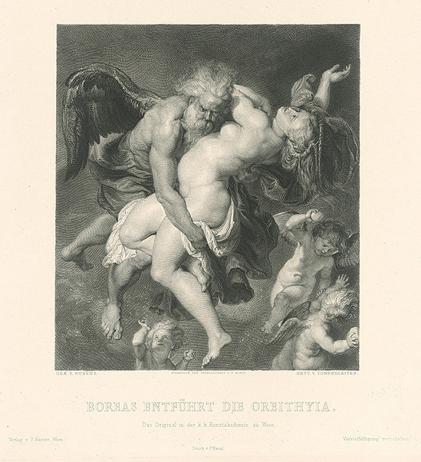Johannes Sonnenleiter, Peter Paul Rubens - Boreas unáša Oreithyiu