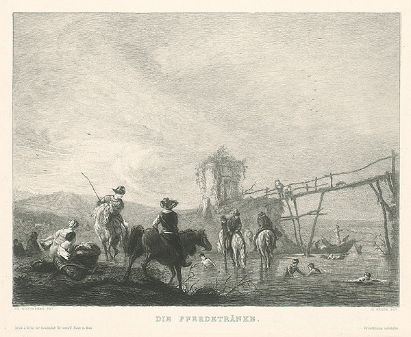 Gustave Greux, Philips Wouwerman – Napájanie koní